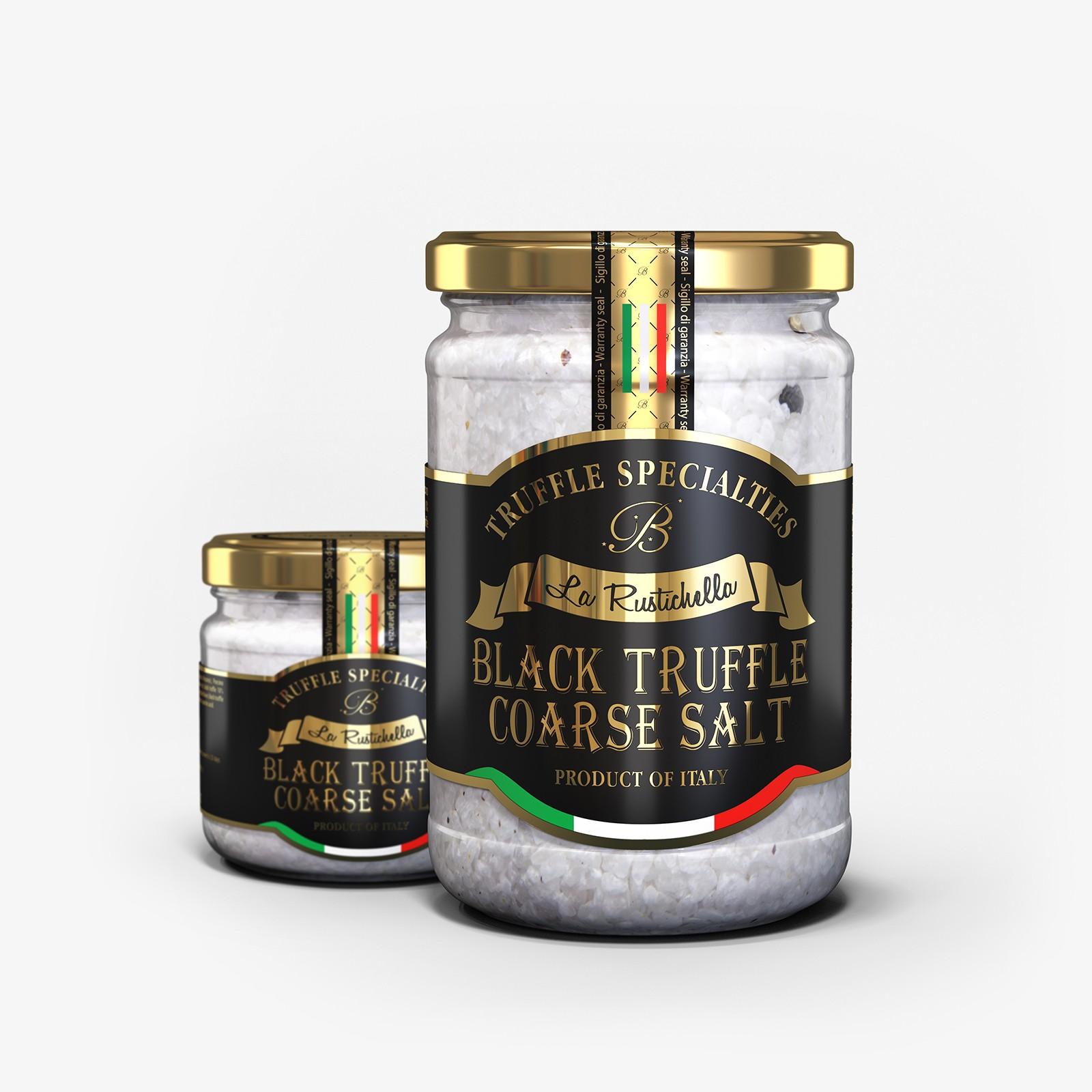Black truffle coarse salt